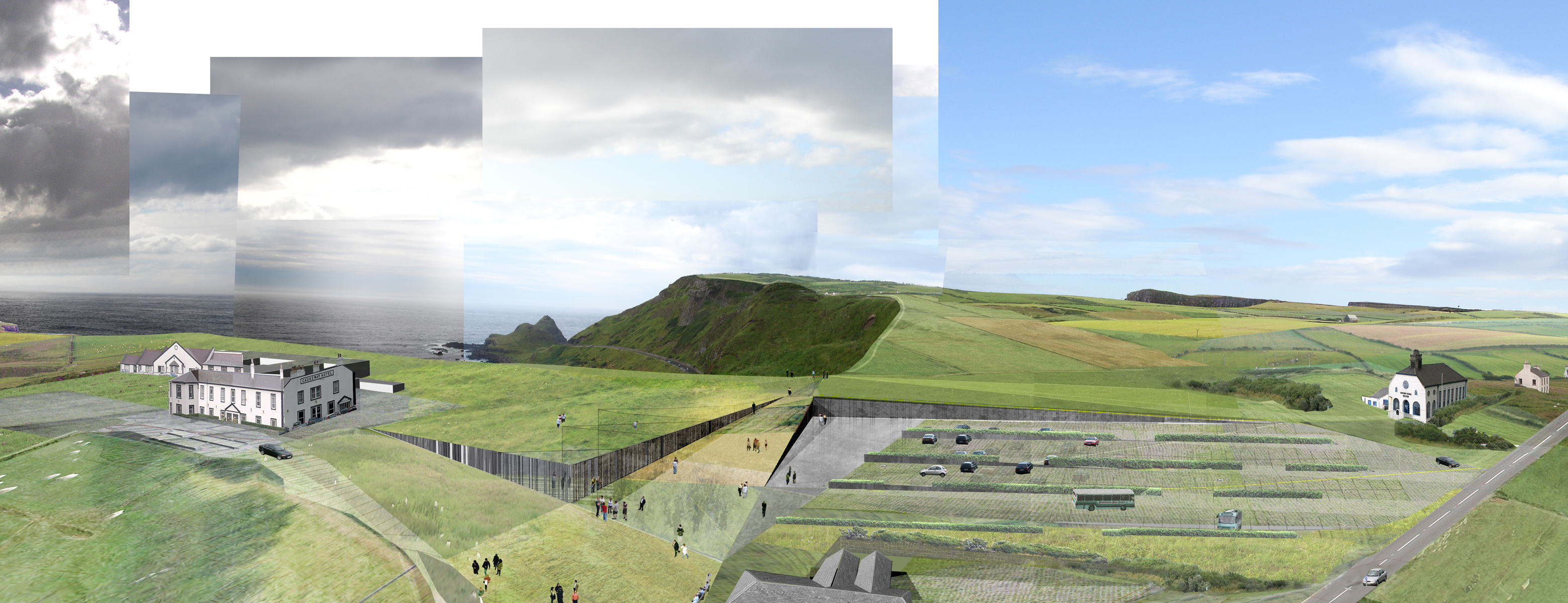 Heneghan peng architects giant s causeway visitors for Landscape builder